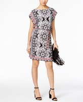 INC International Concepts Petite Printed Shift Dress, Created for Macy's