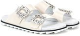 Roger Vivier Slidy Viv leather slip-on sandals