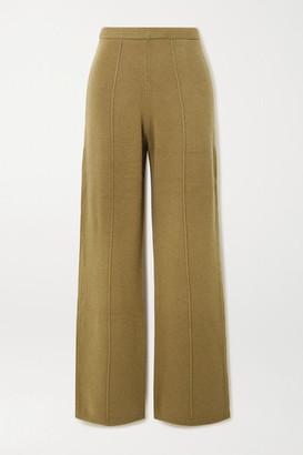 Joseph Wool Wide-leg Pants - Army green