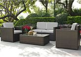 Crosley Palm Harbor 4-Piece Outdoor Wicker Conversation Set