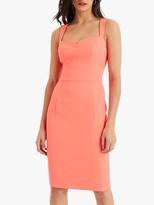 Damsel in a Dress Fluorescent Vida Fitted Dress, Fluoro Orange