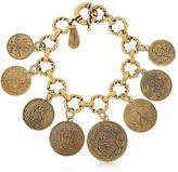 Alcozer & J Coin Charm Bracelet