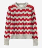 Toast Wave Stripe Wool Sweater