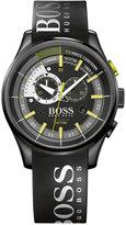 BOSS Hugo Boss Men's Yachting Timer II Chronograph Black Silicone Strap Watch 45mm 1513337