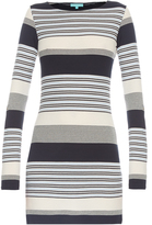 Melissa Odabash Maddie stripe-knit mini dress