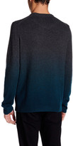 Ted Baker Long Sleeve Crew Neck Ombre Sweater