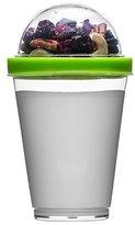 Sagaform Polysthyrene Plastic Yoghurt Cup with Storage, Green