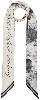 Burberry Silk Animal-Print Scarf