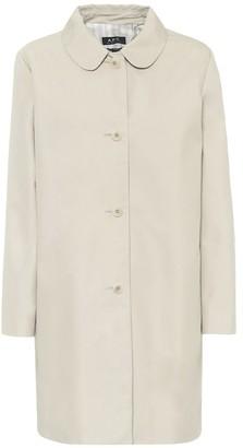 A.P.C. Cotton-blend twill coat