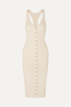 The Line By K Harper Ribbed Stretch-cotton Jersey Dress - Cream