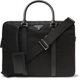 Prada Saffiano Leather-Trimmed Nylon Briefcase