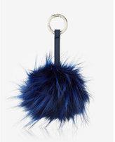 Express ok originals long faux fur pom keychain and bag charm
