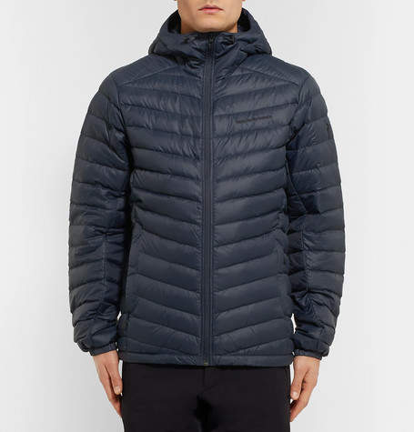 Peak Performance Frost Quilted Shell Hooded Down Jacket