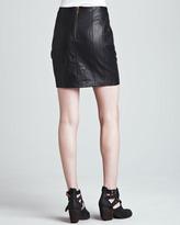 Nanette Lepore Castle Suede/Leather Skirt