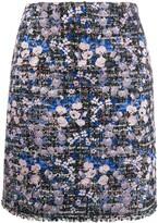 Giambattista Valli floral embroidered tweed skirt