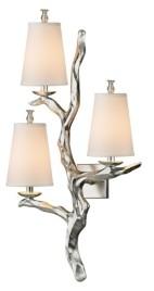 Elk Lighting Sprig 3 Light Wall Sconce in Silver Leaf