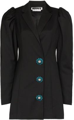 Rotate by Birger Christensen Carol crystal-embellished blazer dress