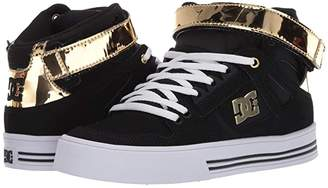 DC High Top V (Black/Gold) Women's Shoes