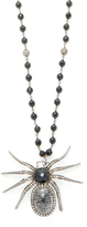 Artisan Silver, Black Onyx & 2.30 Total Ct. Diamond Spider Pendant Necklace