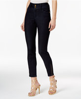 Thalia Sodi Indigo Wash Faux-Leather-Trim Jeans, Only at Macy's