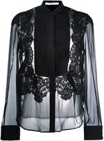 Givenchy pleated front sheer shirt - women - Silk/Cotton/Polyamide/Viscose - 38