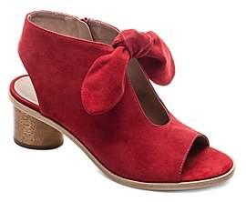 Bernardo Women's Knotted Suede Peep Toe Sandals
