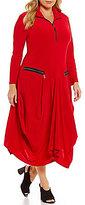 IC Collection Plus Quarter-Zip Mockneck Dress
