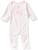 Starting Out Baby Girls Newborn-6 Months Ballet Polka-Dot Footed Coverall