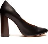 Chloé Harper block-heel leather pumps