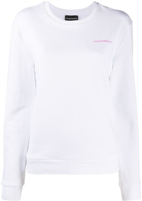 Emporio Armani Long Sleeve Love Print Jumper
