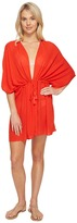 Echo Solid Open Front Caftan Cover-Up Women's Swimwear
