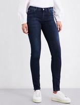 Armani Jeans Stud-embellished skinny mid-rise jeans