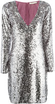 Amen sequin V-neck dress - women - Cotton/Viscose - 44