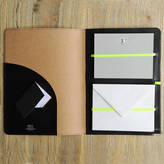 Undercover Recycled Leather Bee/Neon Writing Set