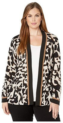Nic+Zoe Plus Size Leader of The Pack Cardy (Multi) Women's Clothing