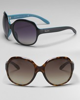Ralph by Ralph Lauren Eyewear Oversized Round Sunglasses