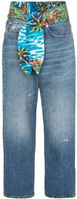 R 13 jasper tie waist wide-leg jeans