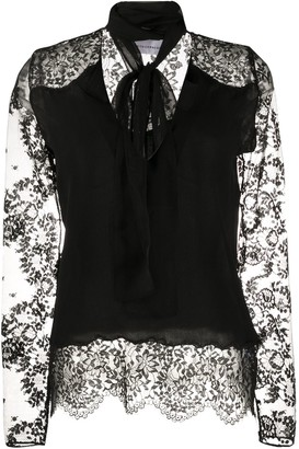 Faith Connexion Lace Sleeve Blouse
