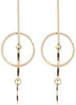 Cara Accessories Bar and Layered Circle Charm Earrings