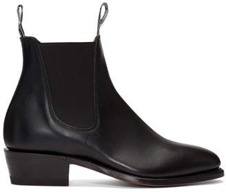 R.M. Williams Black Yearling Chelsea Boots