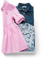 Ralph Lauren Girl Cotton Dress 3-Piece Gift Set