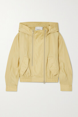 3.1 Phillip Lim - Hooded Taffeta Jacket - Neutrals