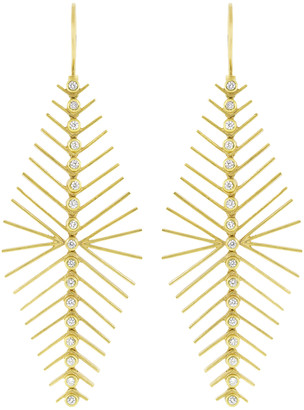 Todd Reed White Diamond Earrings
