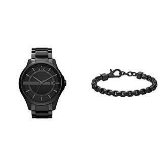 Armani Exchange Men's AX2104 Watch with Stainless Steel Chain Bracelet
