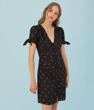 Petite Mendigote Maya Dress - XS .   viscose   black - Black/Black