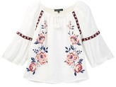 My Michelle mymichelle Embroidered Peasant Top (Big Girls)