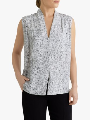 Fenn Wright Manson Petite Anette Spotted Top, Black Ivory Spot