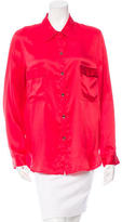 L'Agence Silk Button-Up Blouse