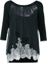 Blumarine lace inserts sweater - women - Silk/Cotton/Polyamide/Viscose - 42