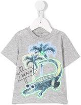 Stella McCartney Chuckle croco beach print T-shirt - kids - Cotton - 9 mth